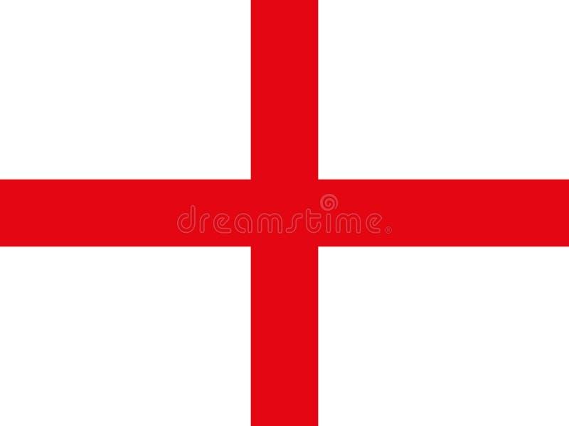 República original e simples da bandeira de Inglaterra ilustração do vetor