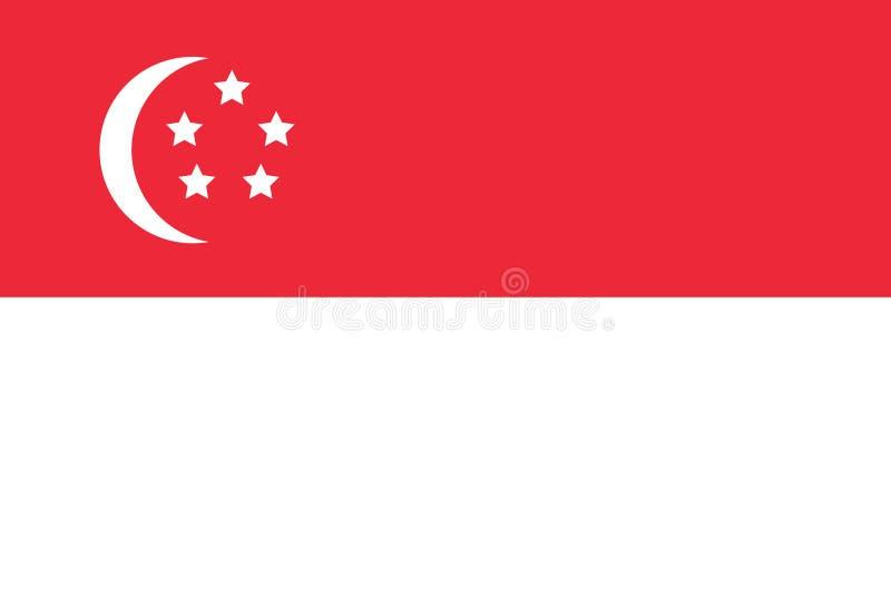 República simple del vector aislado bandera de Singapur ilustración del vector