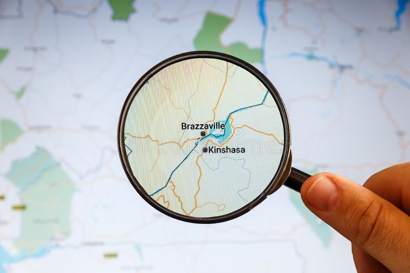 Rep?blica Democratic de Kinshasa, Congo correspondencia pol?tica imagenes de archivo
