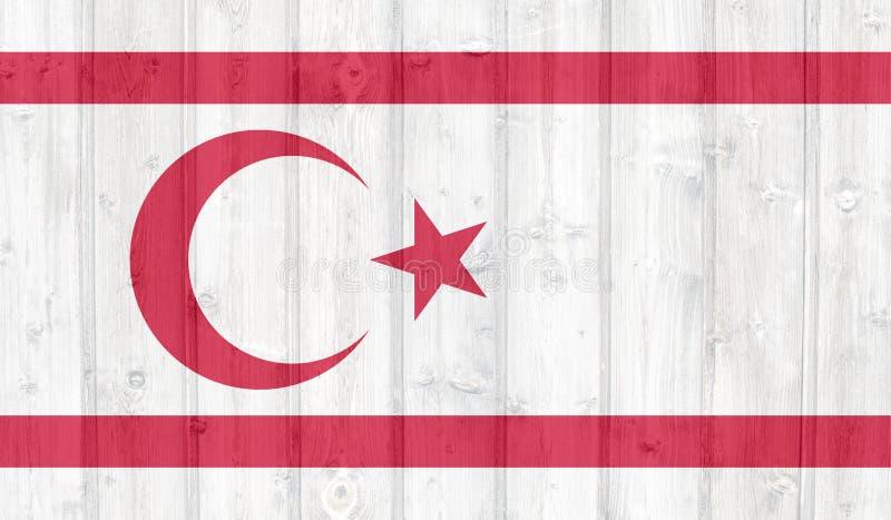 Rep?blica turca da bandeira do norte de Chipre ilustração do vetor