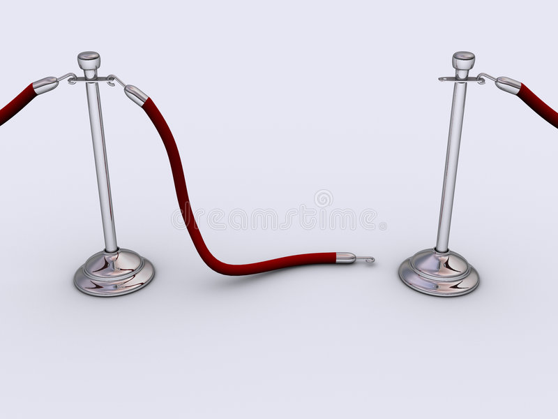 rep för 2 barriär royaltyfri illustrationer