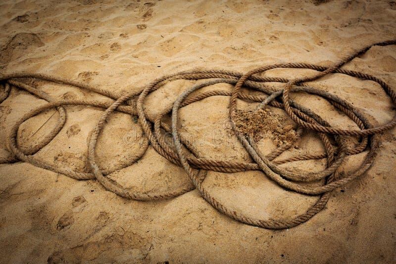 Rep i sand royaltyfri bild