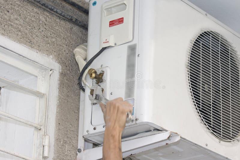 Repair air condition stock photo