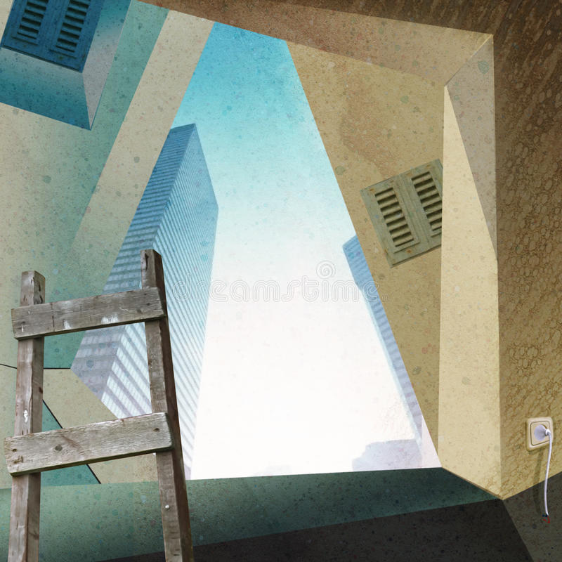 Download Repair of the apartment. stock illustration. Image of interior - 20020746