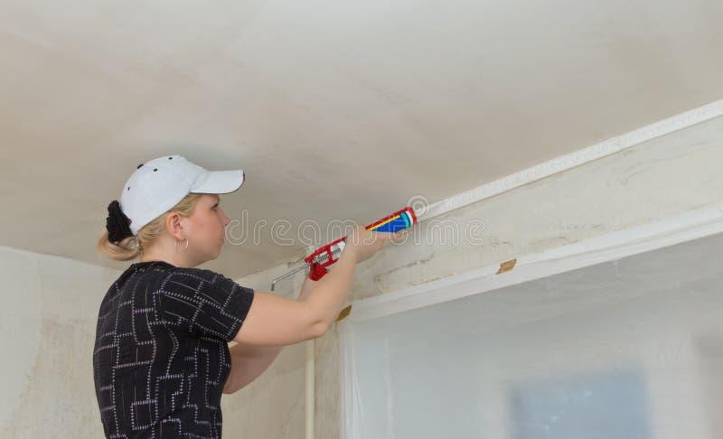Download Repair of apartments stock image. Image of gear, plasterer - 24387883