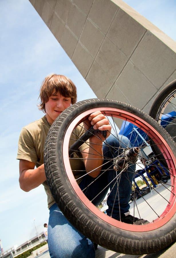 Download Repair bicycle stock photo. Image of helmet, ramp, sport - 25222594