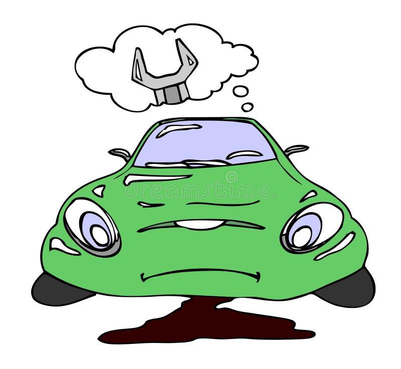 Repair a car vector illustration