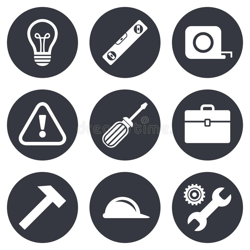 Repair, Construction Icons. Engineering Signs Stock Vector ...