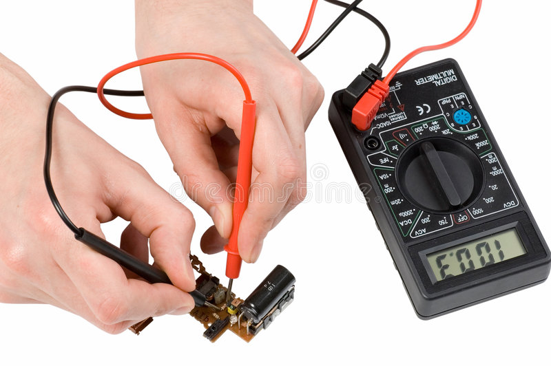 Download Repair of electronics stock photo. Image of multimeter - 4225442