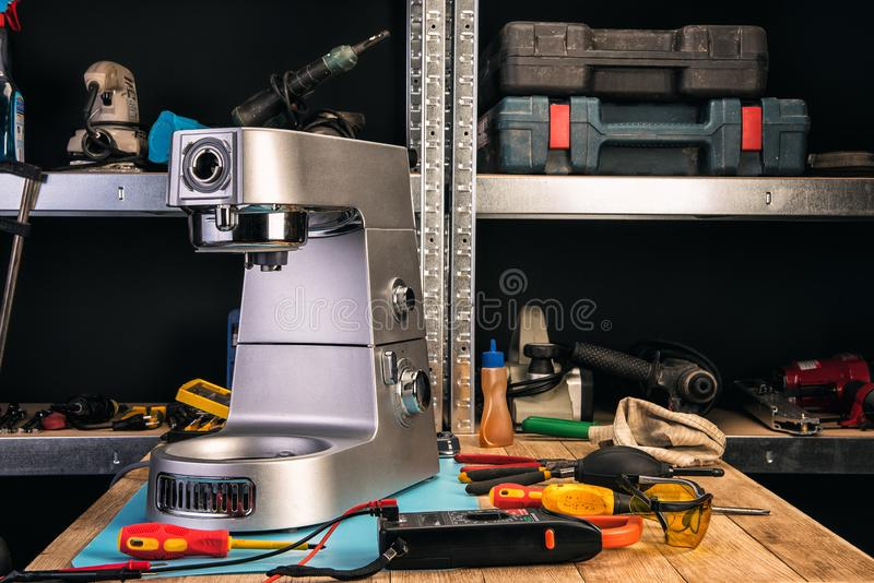 Repair of home appliances in the service center royalty free stock images