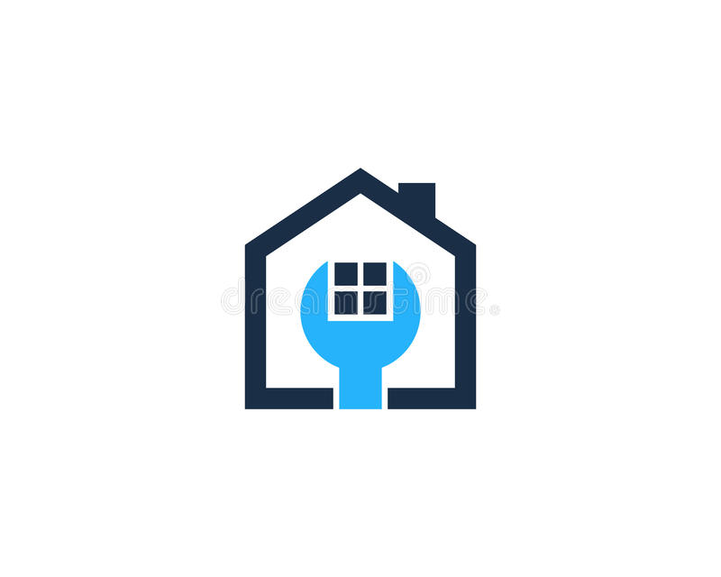 Repair House Home Icon Logo Design Element royalty free illustration