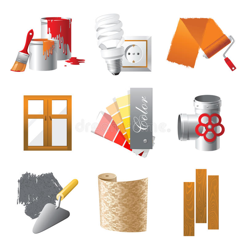 Download Repair icons stock vector. Illustration of instruments - 22552126
