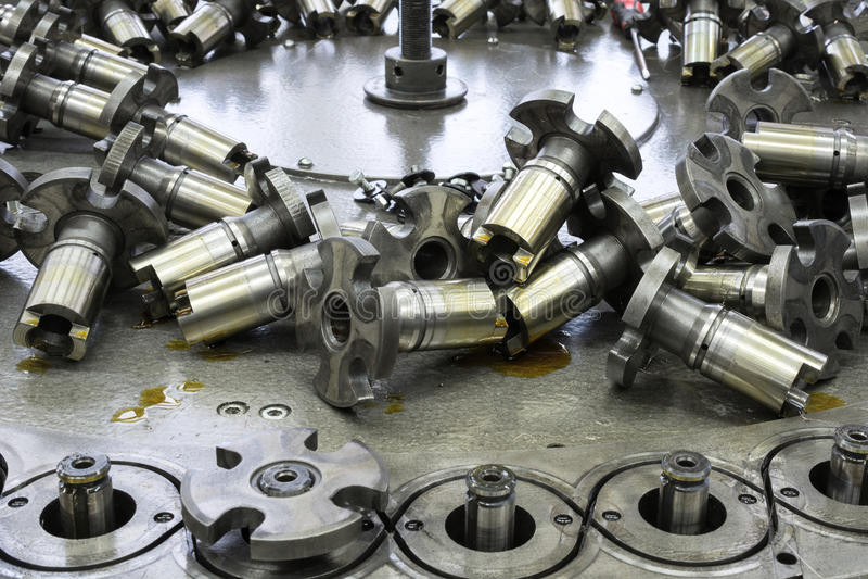 Repair and maintenance of the braiding machine. royalty free stock image