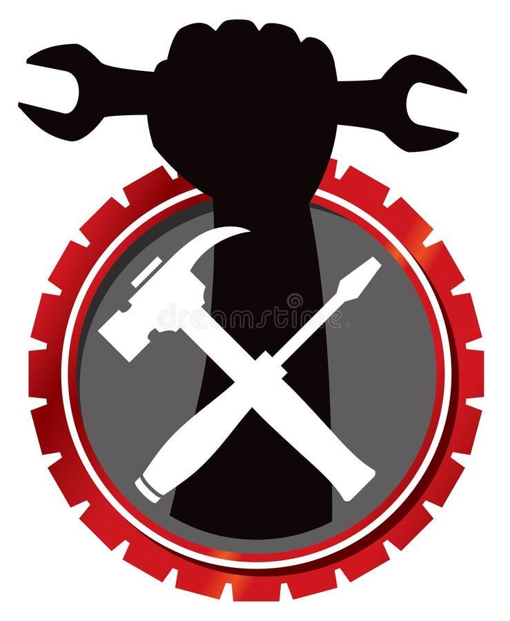 repair mechanic logo stock vector illustration of hard 30718448 rh dreamstime com mechanic logo vector mechanic logo maker