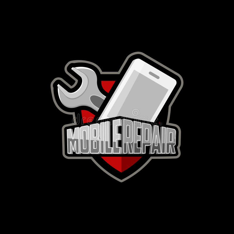 Repair of mobile phones and tablets logo. Phone repair repair icon, repair illustrations, repair image, repair phone sticker, phone repair background, repair vector illustration