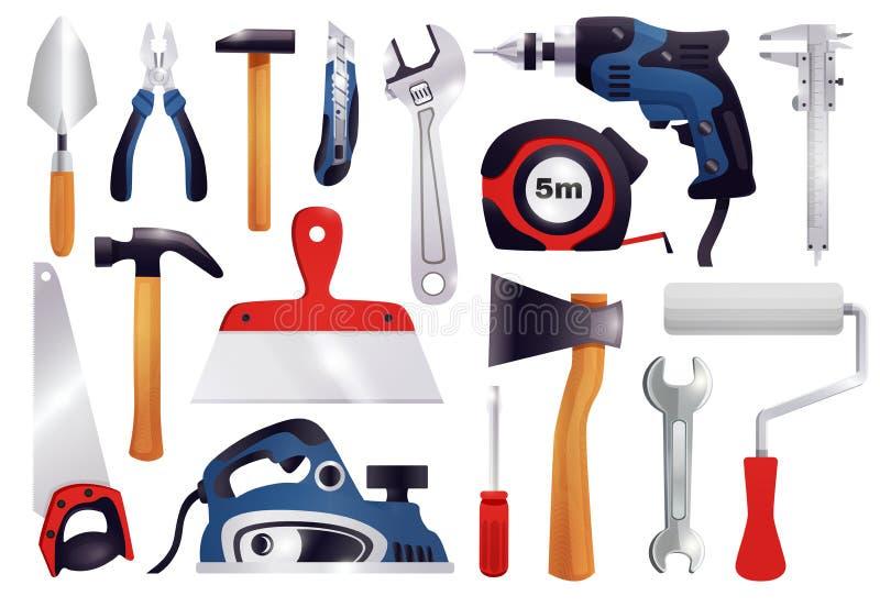 Repair Renovation Carpentry Tools Set vector illustration