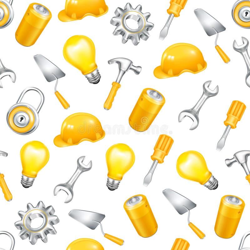 Download Repair, seamless pattern stock vector. Image of bulb - 20634181