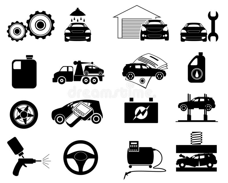 Repair service icon set royalty free illustration