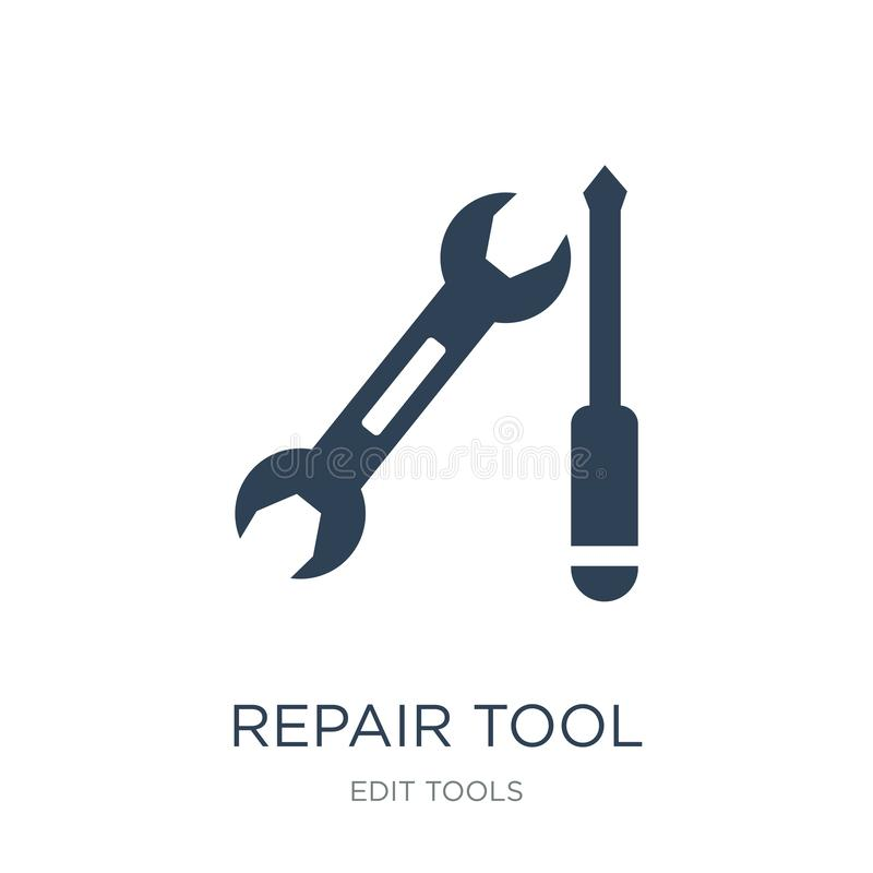 repair tool icon in trendy design style. repair tool icon isolated on white background. repair tool vector icon simple and modern royalty free illustration