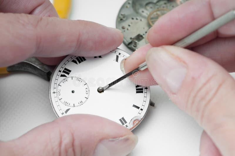 Repair of watches. Special tools for repair of clocks royalty free stock photos
