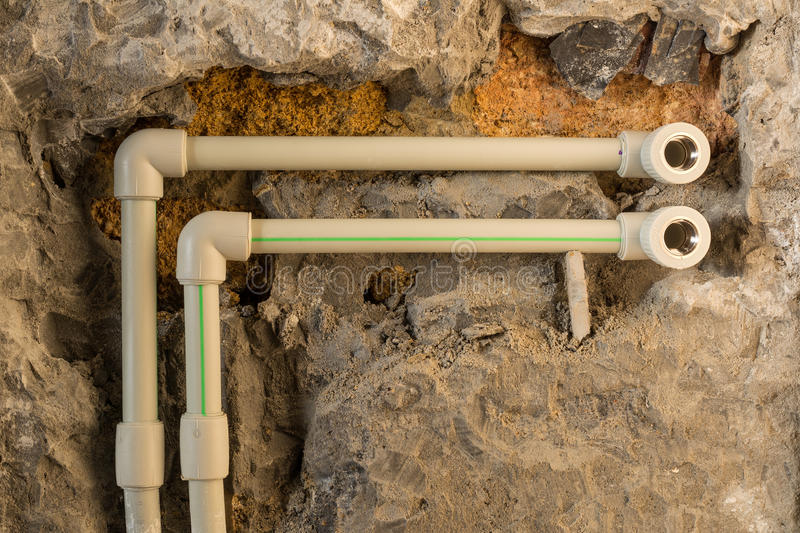 Repair of the water supply system. royalty free stock photos