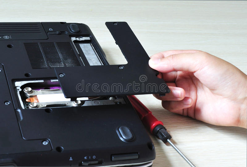 Download Repair your computer stock photo. Image of closeup, electronic - 26508708