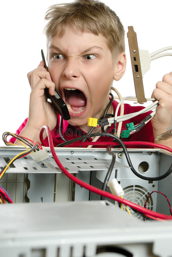 Download Repair your computer. stock image. Image of call, work - 26765537