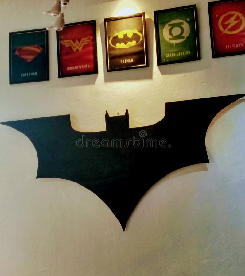 Repaire avec Batman et le porc photo stock