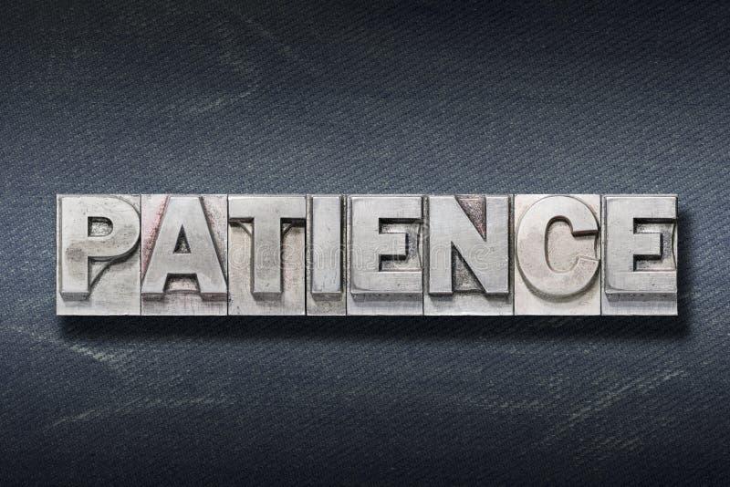 Repaire de mot de la patience photos stock
