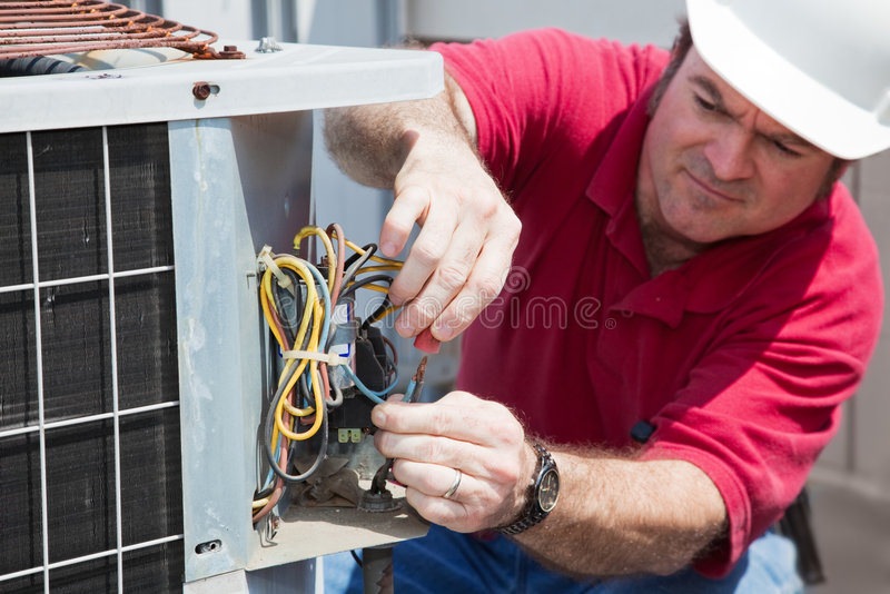 Repairing AC Compressor royalty free stock images