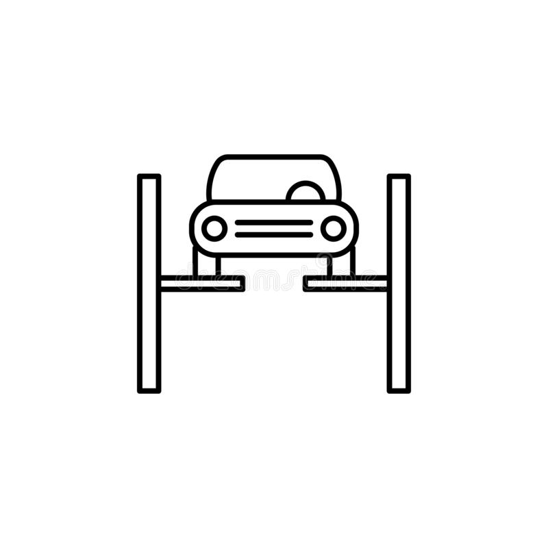 Repairing, car outline icon. Can be used for web, logo, mobile app, UI, UX vector illustration