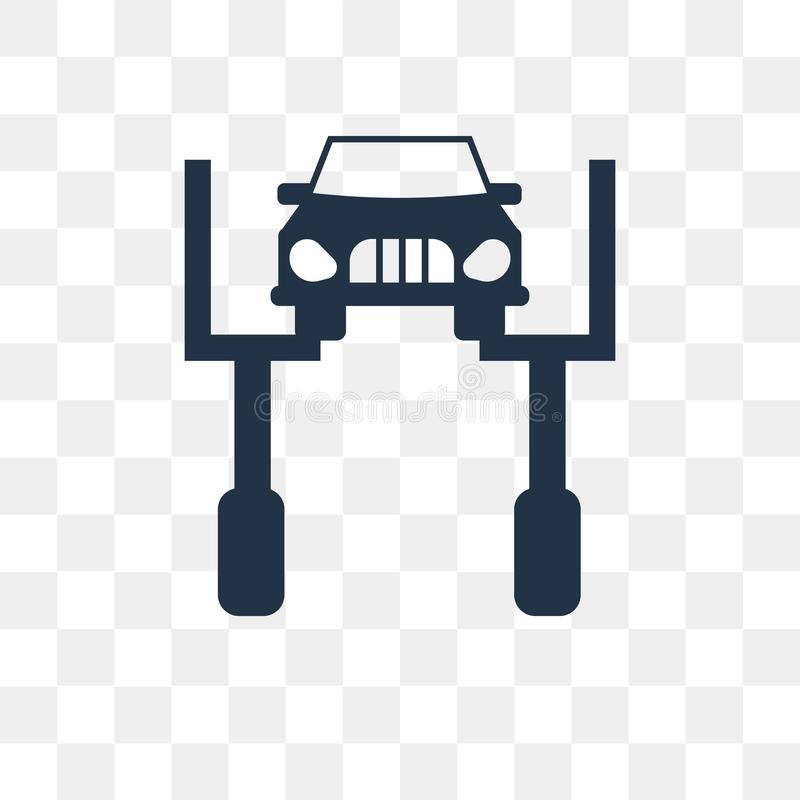 Repairing Car vector icon isolated on transparent background, Re vector illustration
