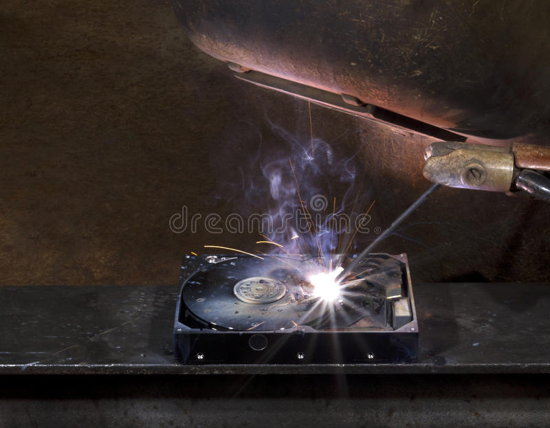 Download Repairing A Defect Hard Disk Stock Image - Image: 20806723