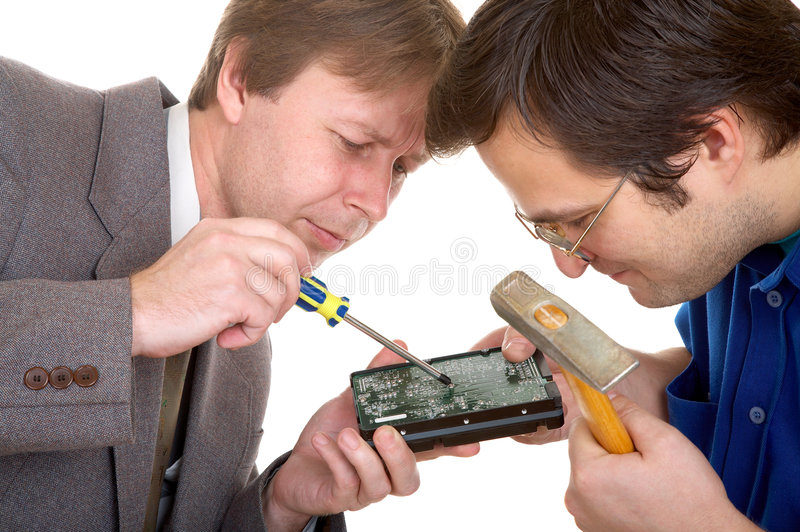 Download Repairing The Disk Royalty Free Stock Images - Image: 3955729