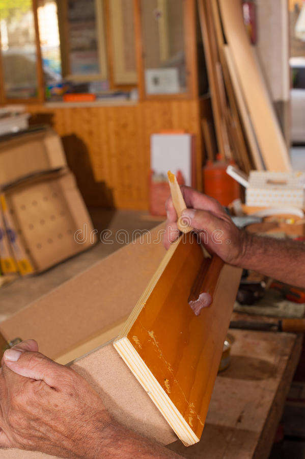 Repairing a drawer royalty free stock images