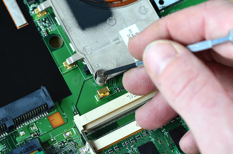 Repairing electronics royalty free stock images