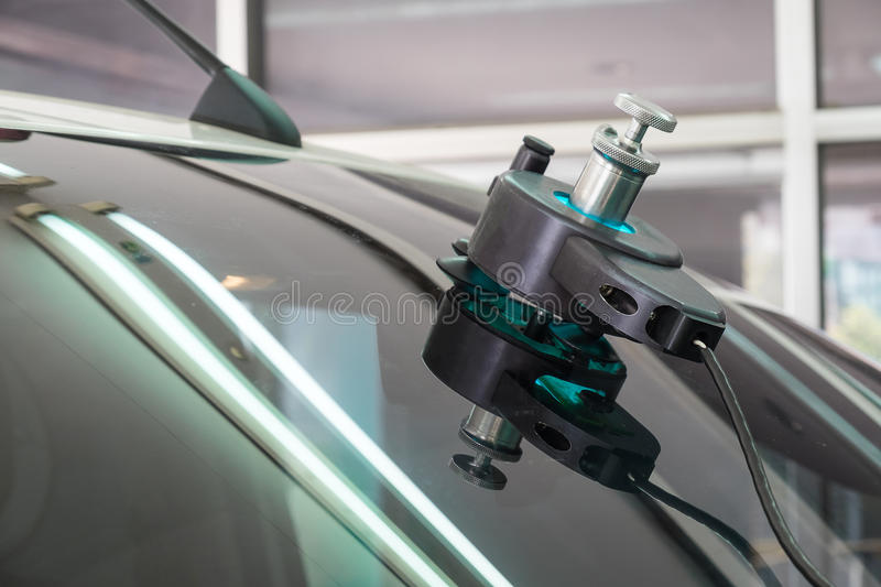 Repairing equipment for fixing of damaged windshield royalty free stock photos