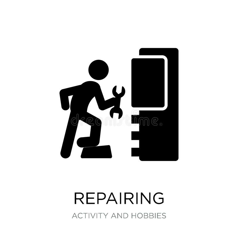 repairing icon in trendy design style. repairing icon isolated on white background. repairing vector icon simple and modern flat stock illustration