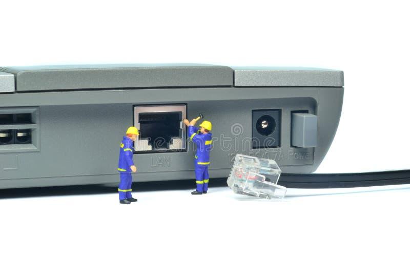 Repairing LAN Internet Connection Stock Image