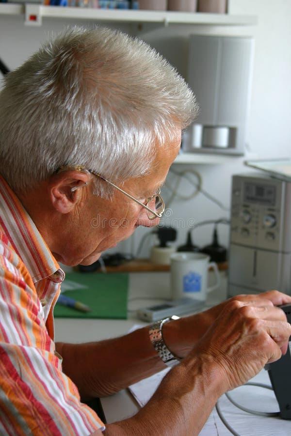 Download Repairing something stock image. Image of screwdriver, senior - 165987