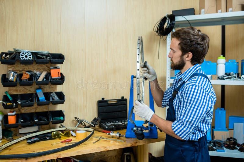 Repairing in workshop royalty free stock image