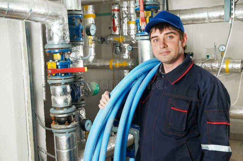 Repairman инженера топления стоковое изображение rf