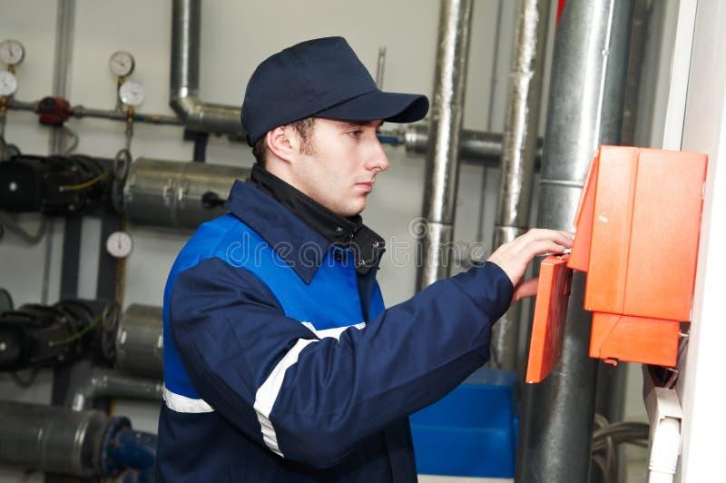 repairman топления инженера стоковые фото