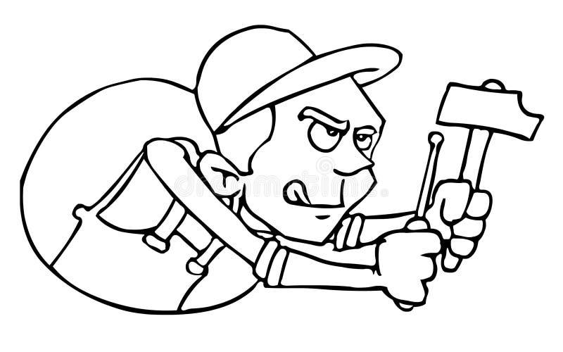 repairman royaltyfri illustrationer