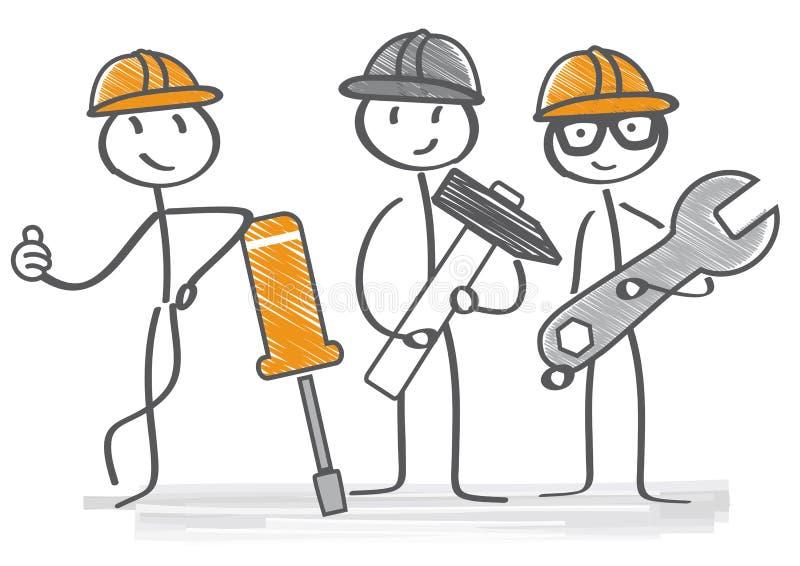 repairman vektor illustrationer