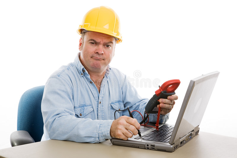 Repairman Confused stock photo