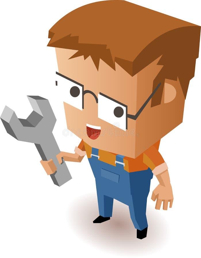Repairman dla utrzymania ilustracja wektor
