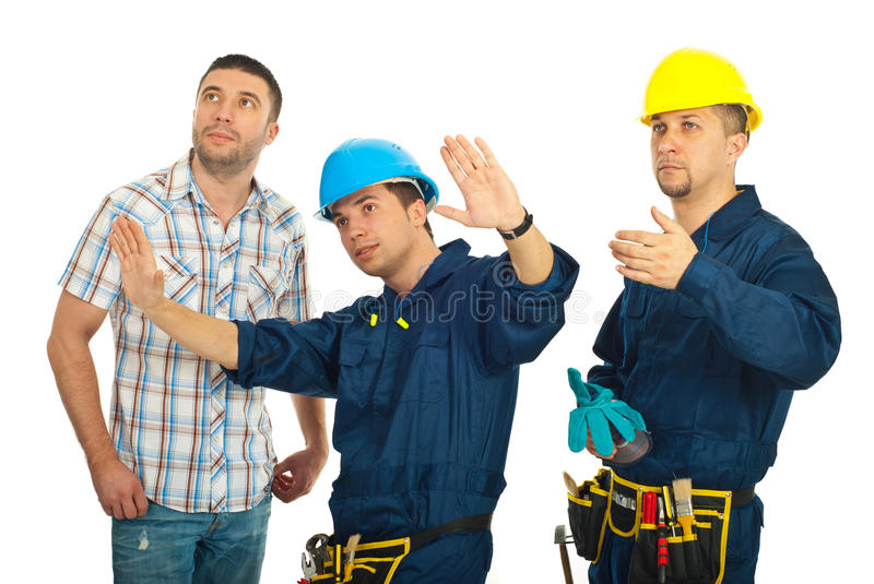 Download Repairman Explain To Client Royalty Free Stock Photography - Image: 18846327