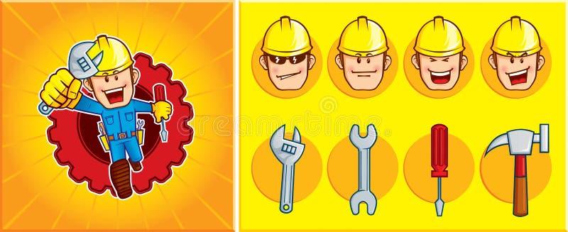 Download Repairman mascot stock vector. Illustration of engineering - 21420873