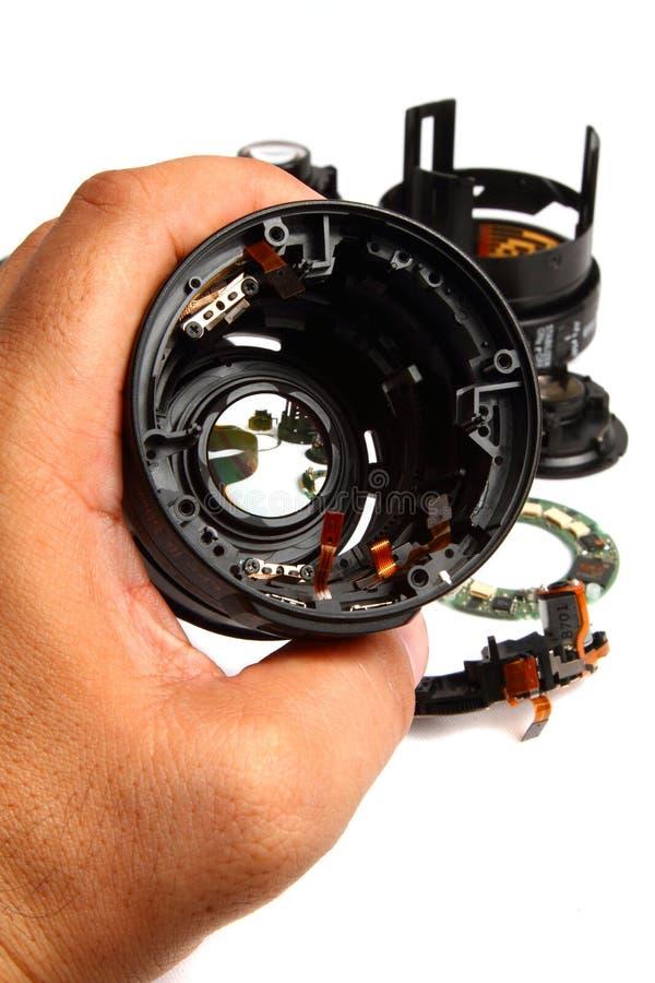 Repairwork sulla lente Barell fotografia stock